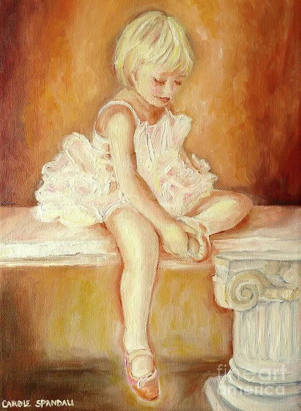 Ballerinas Art Print featuring the painting Little Ballerina by Carole Spandau