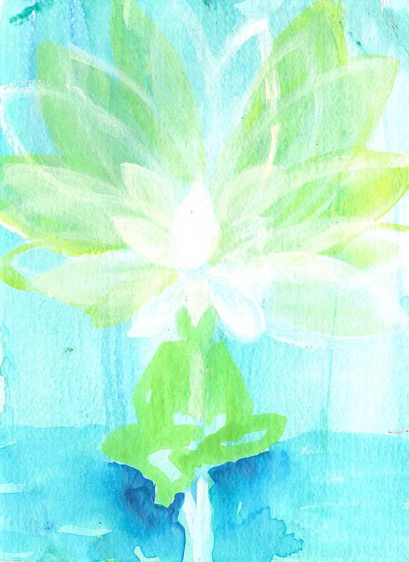 Lotus Flower Art Print featuring the painting Lotus Petals Awakening Spirit by Ashleigh Dyan Bayer