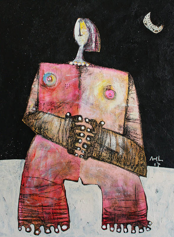 Woman Art Print featuring the painting Lunam No. 3 by Mark M Mellon