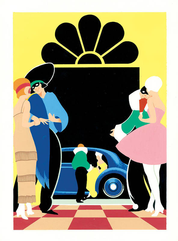 Adult Print featuring the photograph Masked Ball by Brian James