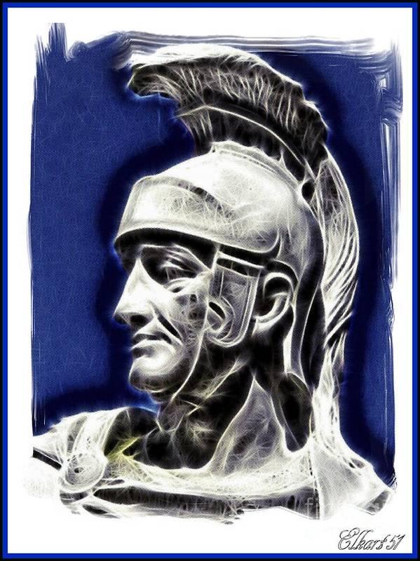 Art Print featuring the digital art Maximus by Gra Howard