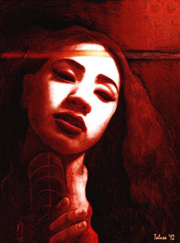 Girl Art Print featuring the digital art Meisi 2 by Teleita Art
