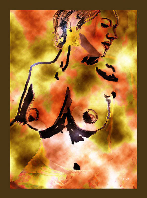 Art Nude Art Print featuring the drawing Muse by Herbert French