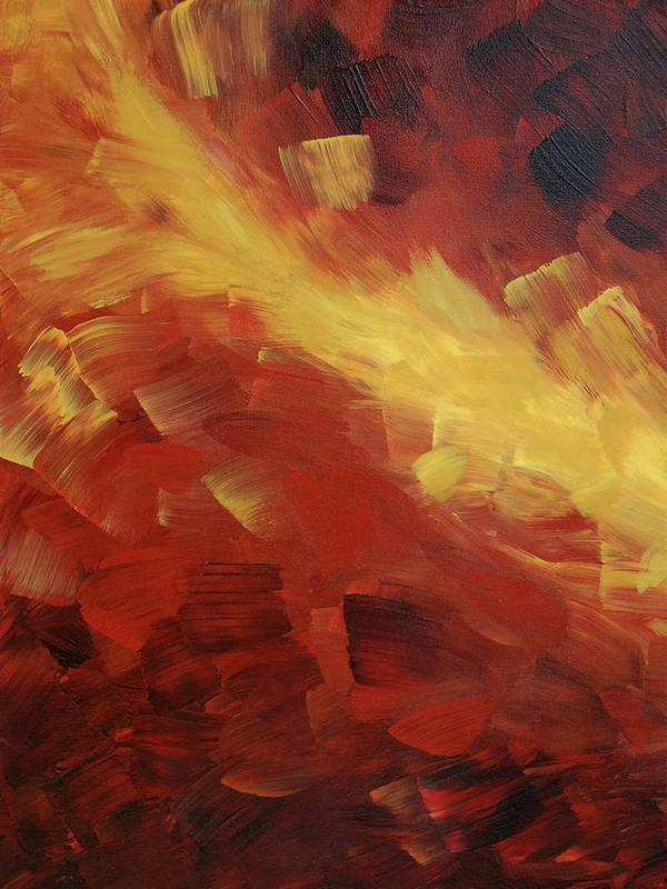 Fire Art Print featuring the painting Muse In The Fire 1 by Sharon Cummings