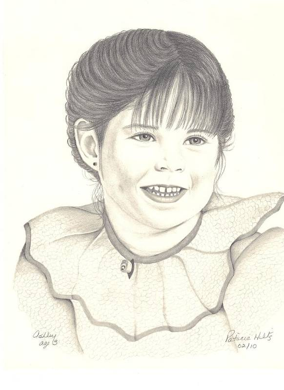 Little Girl Art Print featuring the drawing My Little Girl by Patricia Hiltz
