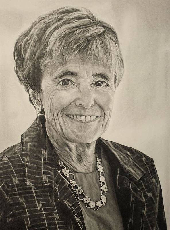 Alyssa Art Print featuring the drawing Myra Kraft by Alyssa Kerr