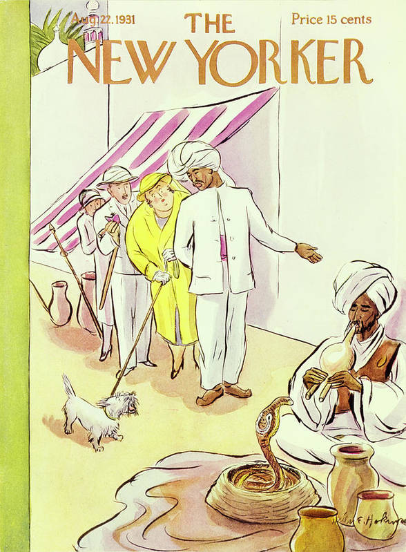 Illustration Art Print featuring the painting New Yorker August 22 1931 by Helene E Hokinson