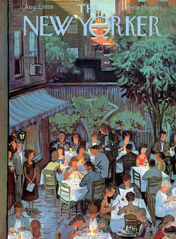 Arthur Getz Agt Art Print featuring the painting New Yorker August 2nd, 1958 by Arthur Getz