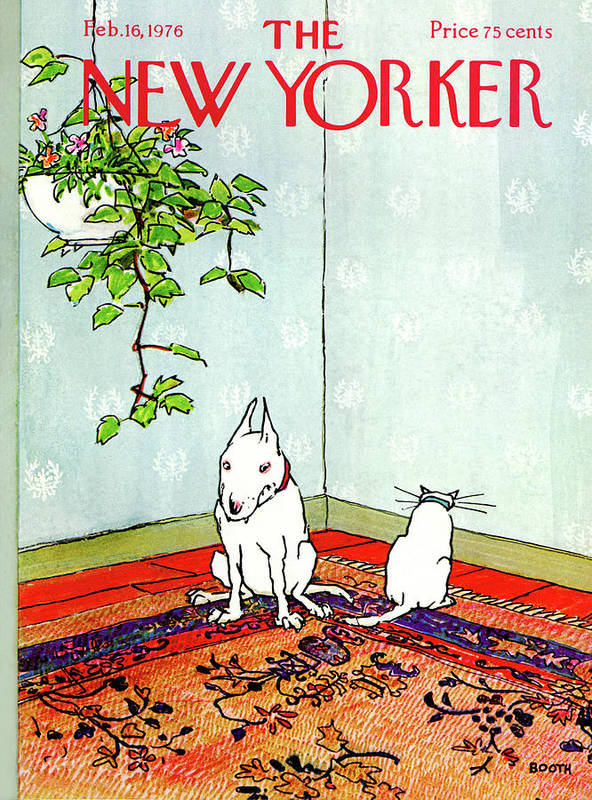 Animals Art Print featuring the painting New Yorker February 16th, 1976 by George Booth