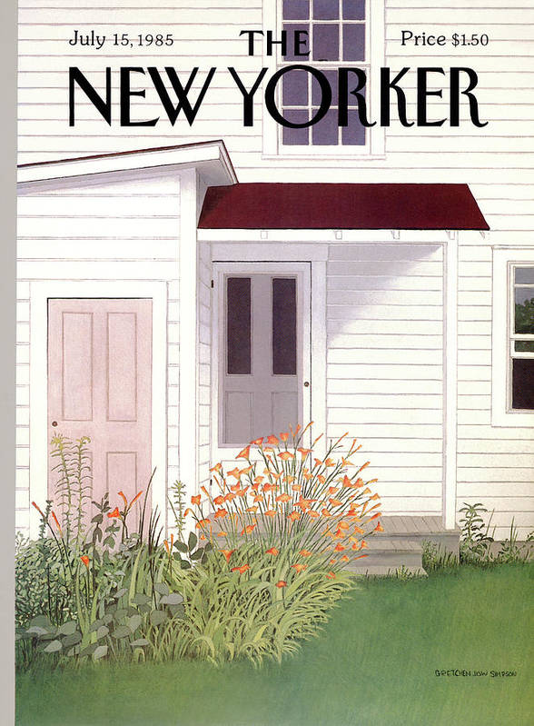 Architecture Art Print featuring the painting New Yorker July 15th, 1985 by Gretchen Dow Simpson