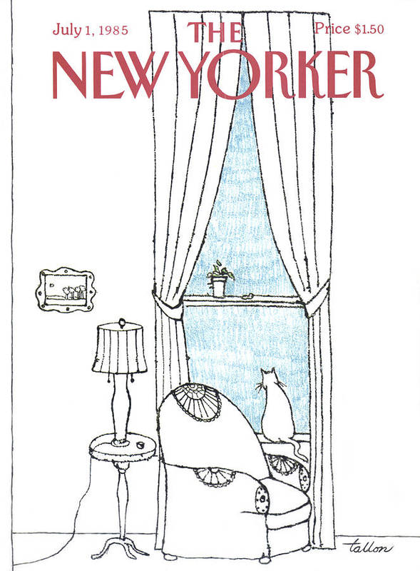 Cats Art Print featuring the painting New Yorker July 1st, 1985 by Robert Tallon