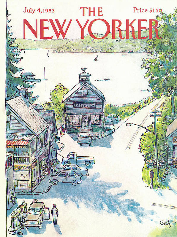 Rural Art Print featuring the painting New Yorker July 4th, 1983 by Arthur Getz