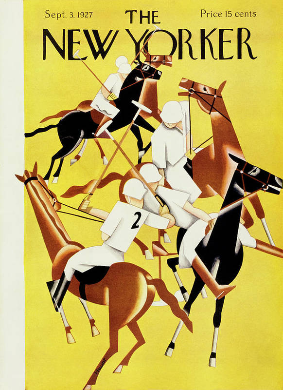 Illustration Art Print featuring the painting New Yorker September 2 1927 by Theodore G. Haupt