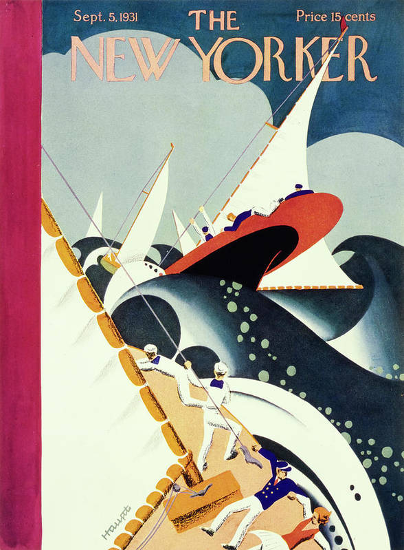 Illustration Art Print featuring the painting New Yorker September 5 1931 by Theodore G Haupt