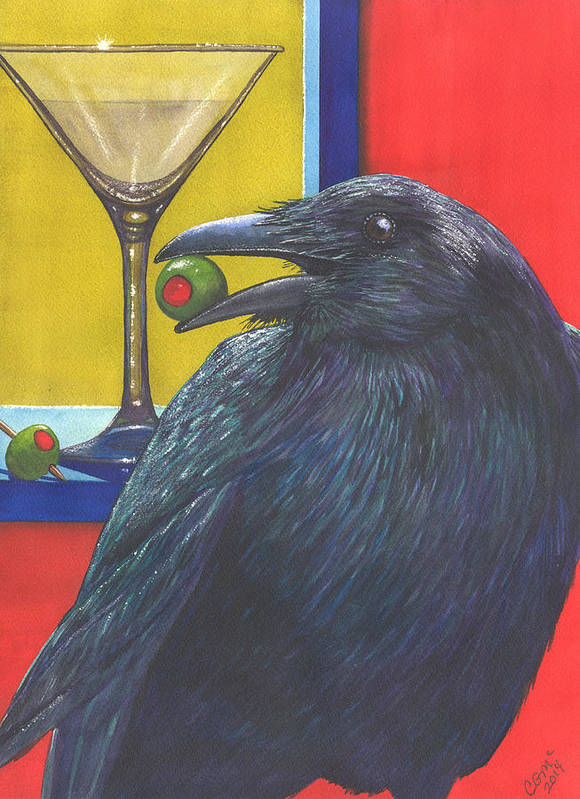 Raven Art Print featuring the painting Olive by Catherine G McElroy