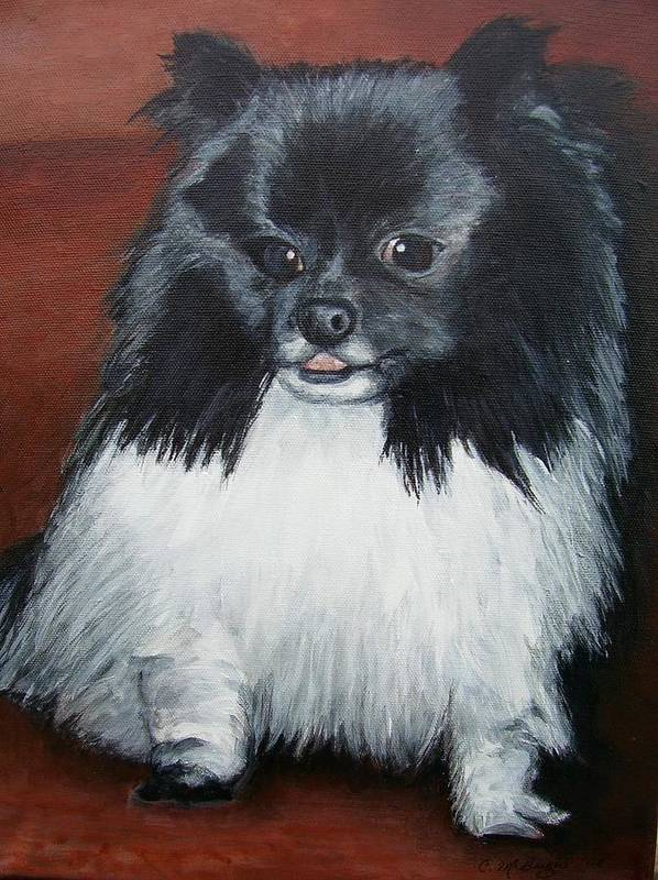 Dog Art Print featuring the painting Peanut by Cathy McGregor