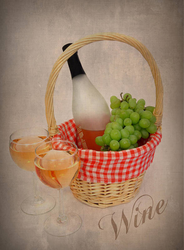 Wine Art Print featuring the photograph Picnic by Cindy Haggerty