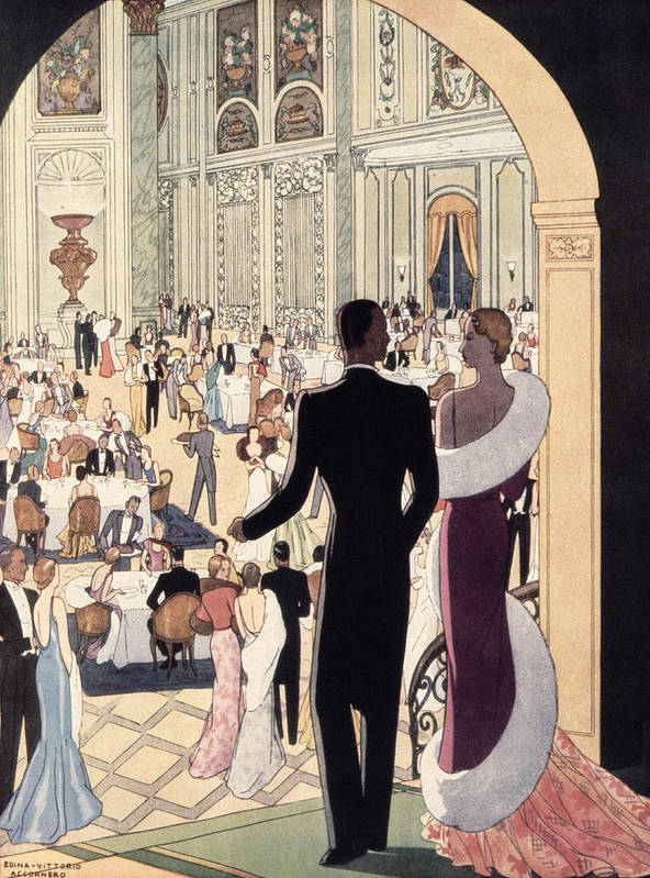 30s Print featuring the painting Poster Advertising The Rex by Italian School
