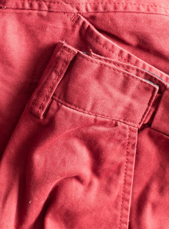 Apparel Art Print featuring the photograph Red Trousers by Tom Gowanlock
