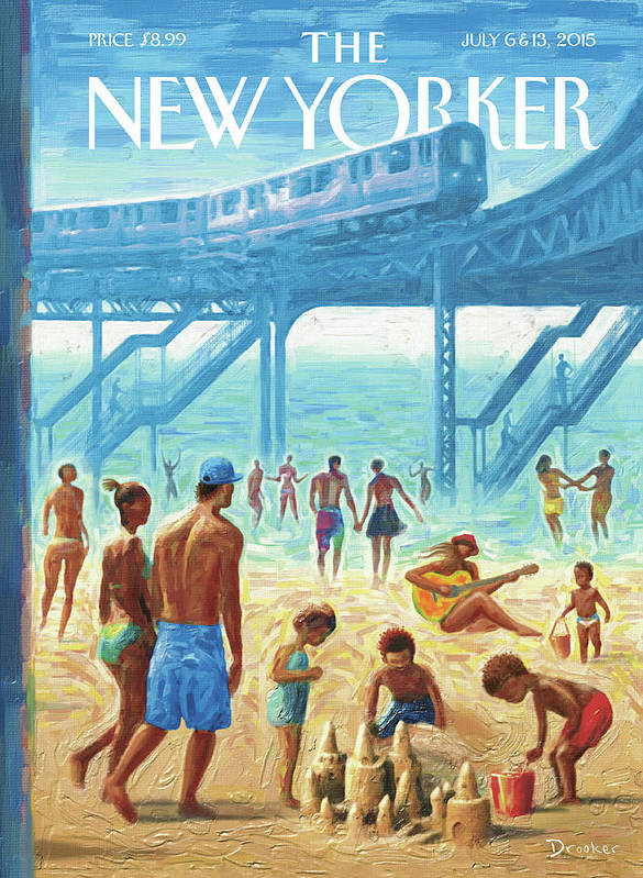 Summer Art Print featuring the painting Rockaway Beach by Eric Drooker