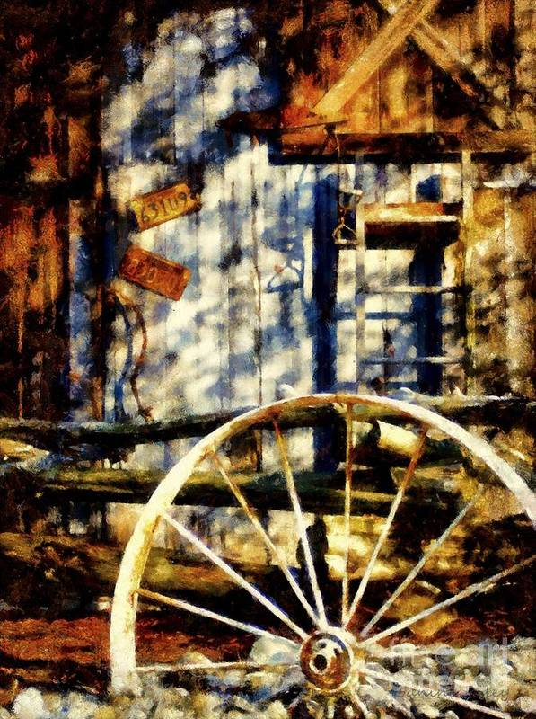 Country Western Art Print featuring the photograph Rustic Decor by Janine Riley