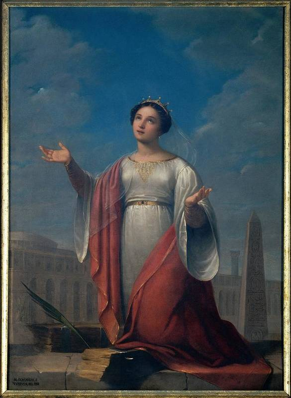 Catherine Art Print featuring the photograph Schiavoni Natale, St Catherine, 1828 by Everett