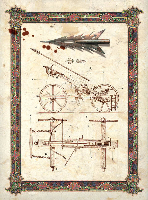 Adventure Print featuring the photograph Siege Crossbow by Garry Walton