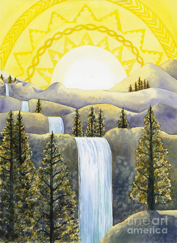 Power Art Print featuring the painting Solar Plexus Chakra by Catherine G McElroy