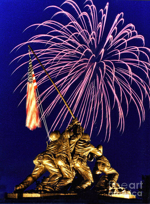 United States Marine Corps Art Print featuring the photograph Some Gave All by Scott Hansen