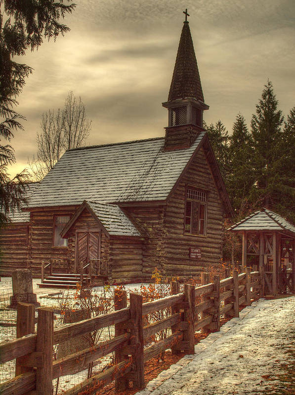 Church Art Print featuring the photograph St Anne's Church In Winter by Randy Hall