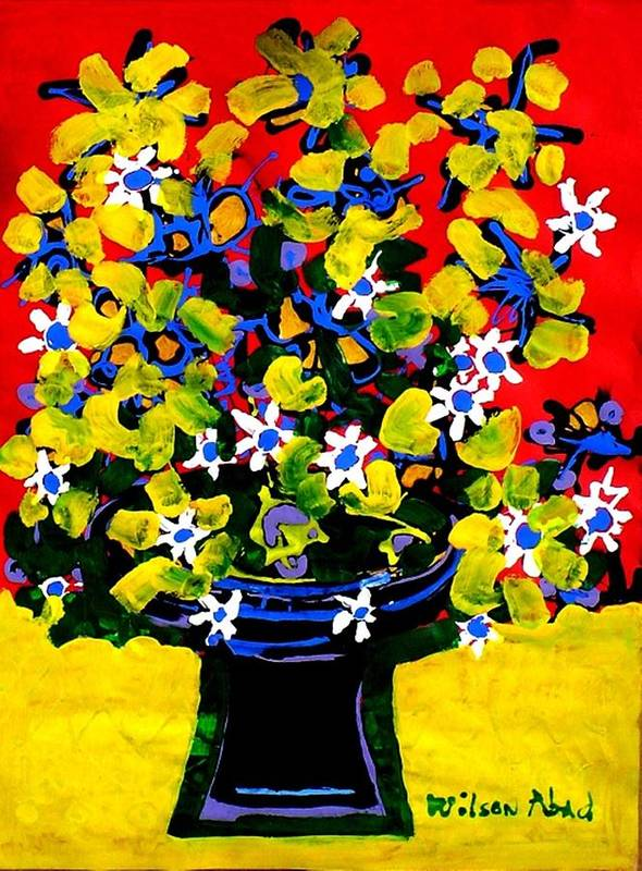 Summer Art Print featuring the painting Summer Bouquet by Wilson Abad