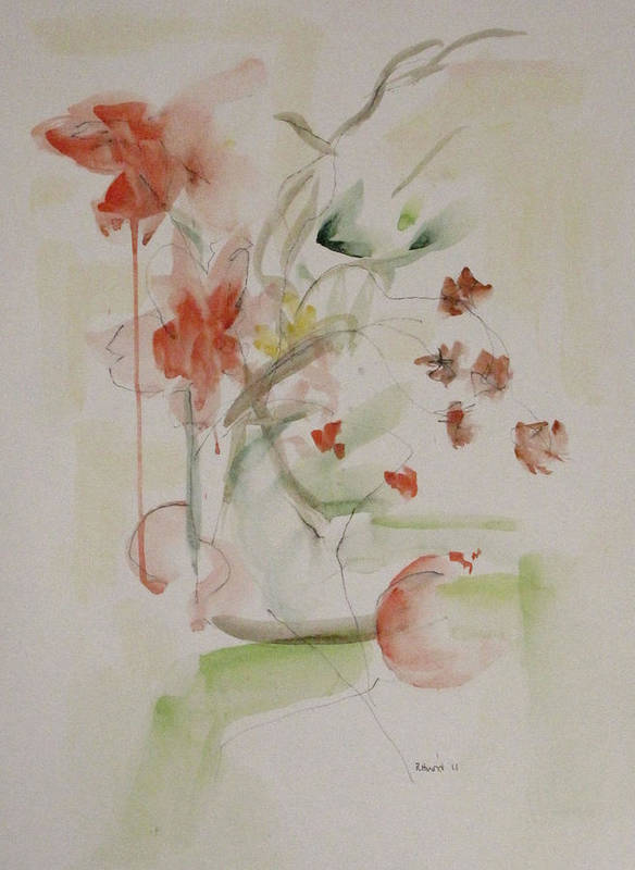 Summer Art Print featuring the painting Summer Flowers by Ruth Hurd