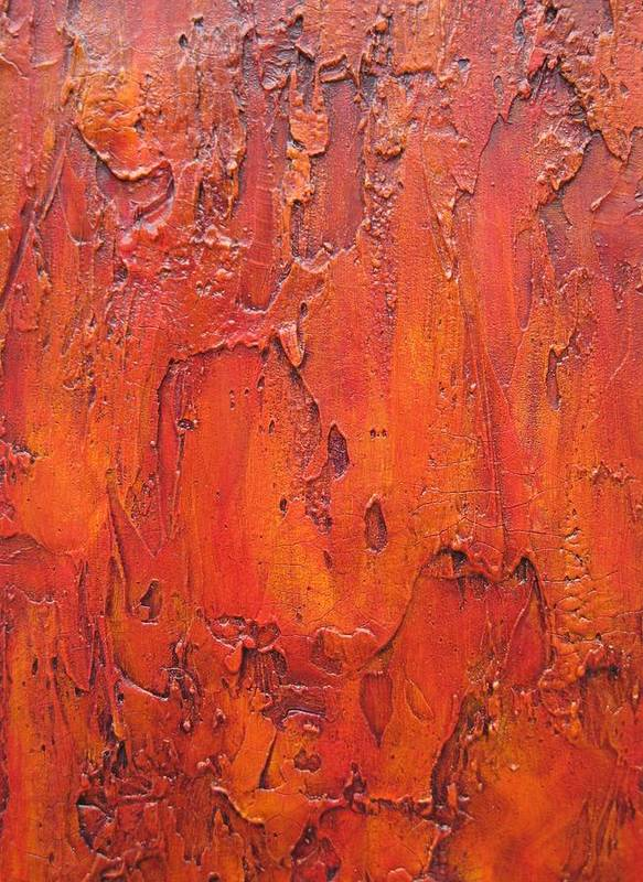 This Is A Original Artwork On Wood Panel With One And Half Inch Wood Sides. Art Print featuring the painting Summer Heat by Alan Casadei