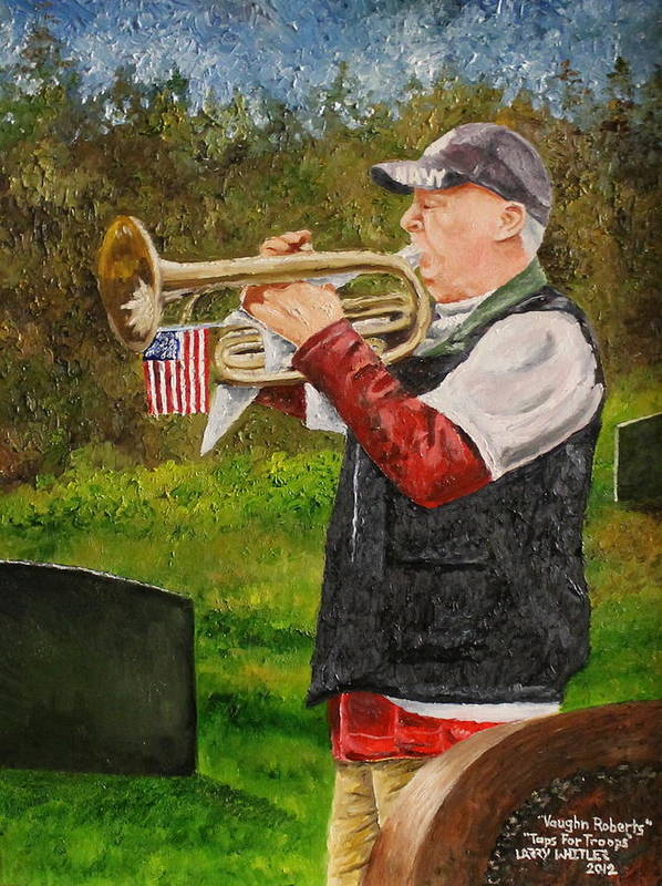 Taps Art Print featuring the painting Taps For Troops by Larry Whitler