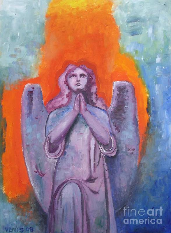 Angel Art Print featuring the painting The Calling by Venus