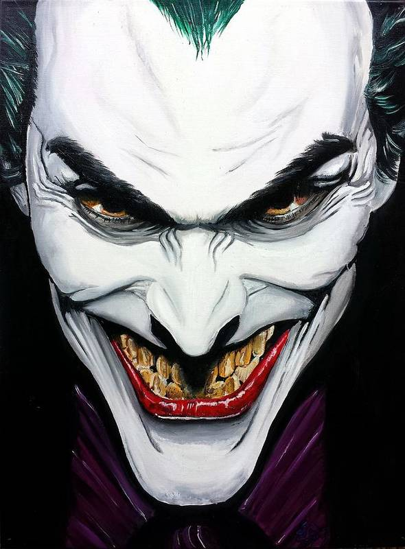 The Joker A Tribute To Alex Ross Art Print