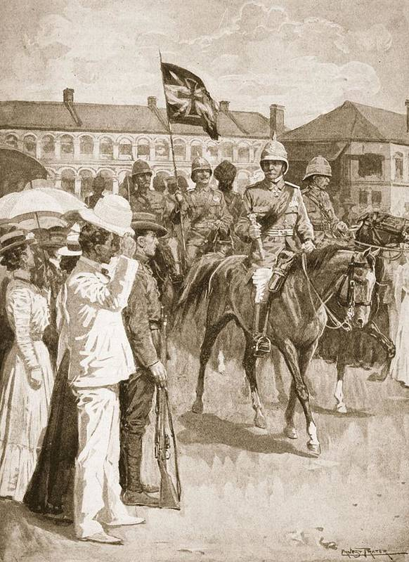 Boxer Rebellion Print featuring the drawing The Leader Of The Allies, Illustration by Ernest Prater