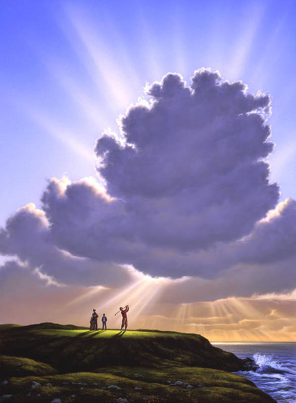 Golf Art Print featuring the painting The Legend Of Bagger Vance by Jerry LoFaro