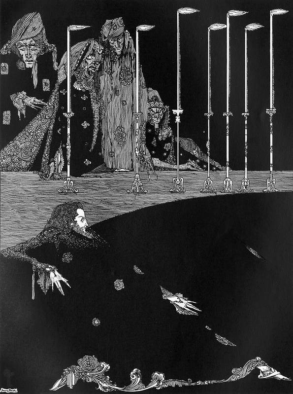 Poe Art Print featuring the drawing The Pit & The Pendulum by Mary Evans Picture Library