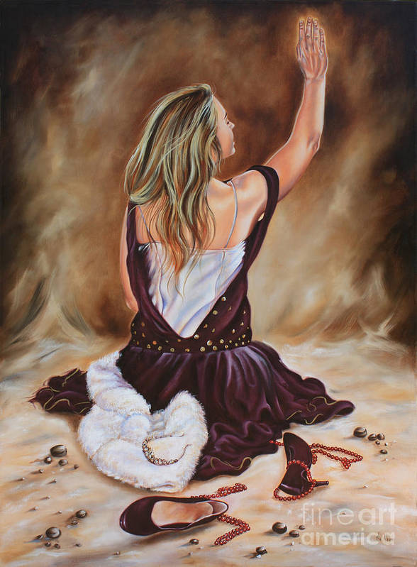 Princess Art Print featuring the painting The Servant Princess by Ilse Kleyn