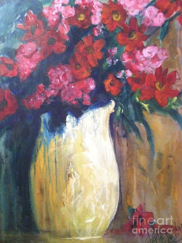 Orchards Art Print featuring the painting The Vase by Sherry Harradence