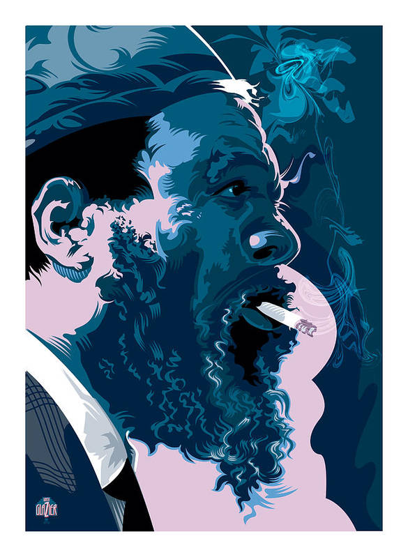 Thelonius Monk Art Print featuring the painting Thelonius Monk by Garth Glazier