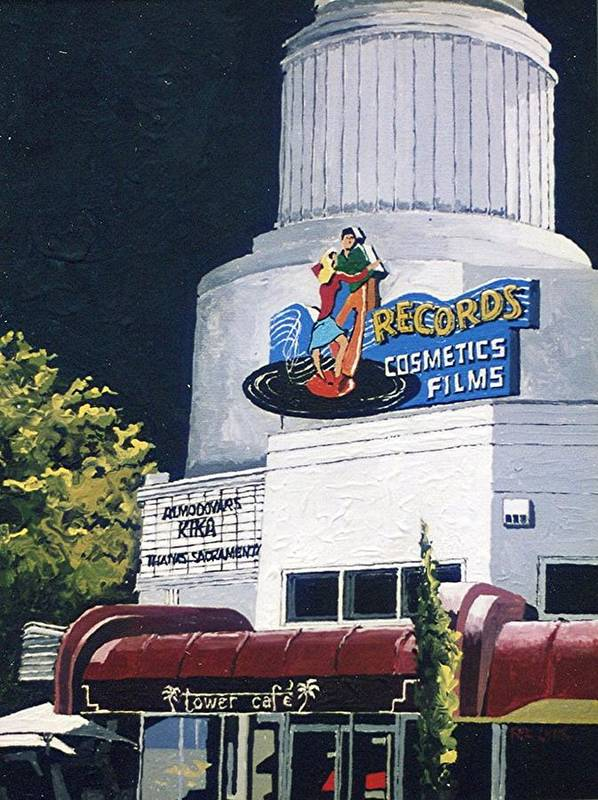 Sacramento Art Print featuring the painting Tower Records by Paul Guyer