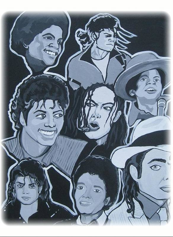 Michael Print featuring the painting Tribute To Michael Jackson by Gary Niles