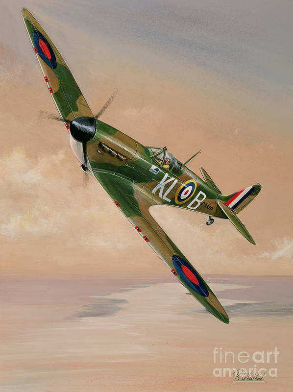 Plane Art Print featuring the painting Turning For Home by Richard Wheatland