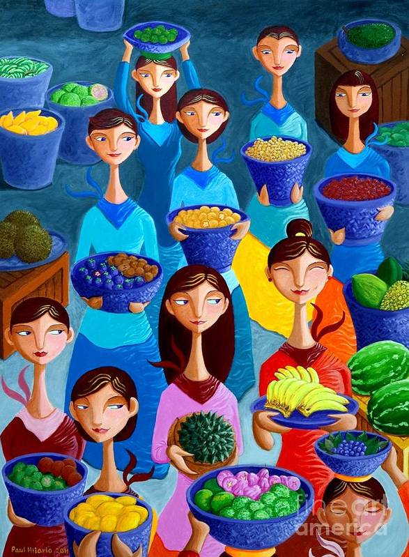 Fruits Art Print featuring the painting Tutti Frutti by Paul Hilario