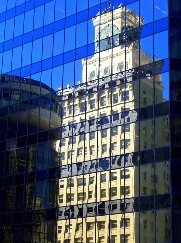 Vancouver Art Print featuring the photograph Vancouver Reflections 4 by Randall Weidner