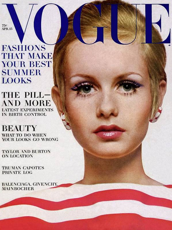 Vogue Cover Of Twiggy Art Print