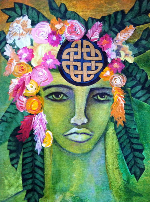 Goddess Print featuring the painting Warrior Goddess by Tracie Hanson