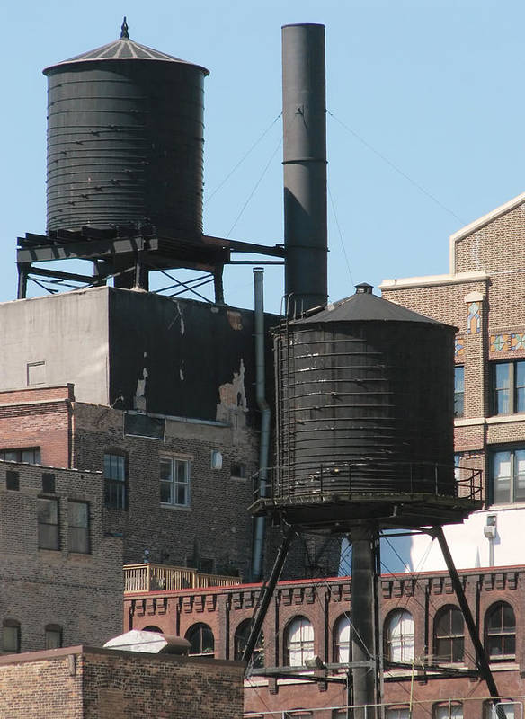 United States Art Print featuring the photograph Water Tanks by Darin Volpe